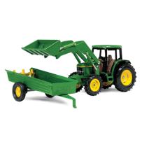 John Deere 1:32 6210 Tractor W/Loader & Spreader