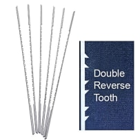 OLSON PGT DOUBLE / REVERSE TOOTH SCROLL SAW BLADES - #5RG