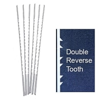 OLSON PGT DOUBLE / REVERSE TOOTH SCROLL SAW BLADES - #7RG