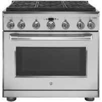 """GE Café™ Series 36"""" Dual Fuel Professional Range with 6 Burners (Natural Gas)"""