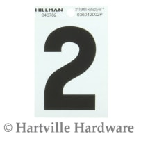 HILLMAN 840782 3 IN. BLACK & SILVER MYLAR - WIDE STYLE - REFLECTIVE  - #2