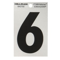 HILLMAN 840790 3 IN. BLACK & SILVER MYLAR - WIDE STYLE - REFLECTIVE  - #6