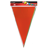 HILLMAN 848622 50 FT. MULTI-COLOR PENNANT FLAGS SIGN