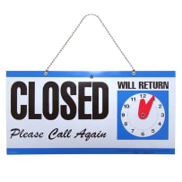 HILLMAN 848653 PLASTIC OPEN/CLOSE SIGN WITH CLOCK