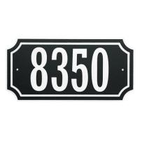 HILLMAN 848896 BLACK WITH WHITE TRIM ADDRESS PLAQUE
