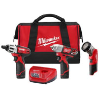MILWAUKEE 2491-23 M12 CORDLESS LITHIUM -ION 3-TOOL COMBO KIT