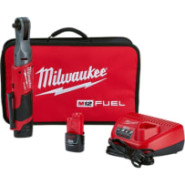 MILWAUKEE 2557-22 M12 FUEL 3/8 INCH RATCHET 2 BATTERY KIT