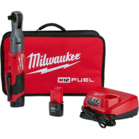 MILWAUKEE 2558-22 M12 FUEL 1/2 INCH RATCHET 2 BATTERY KIT