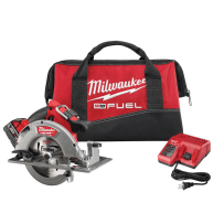 MILWAUKEE 2731-21 M18 FUEL 18VOLT LITHIUM-ION BRUSHLESS CORDLESS 7-1/4 INCH CIRCULAR SAW KIT WITH 1 5.0AH BATTERY CHARGER AND TOOL BAG