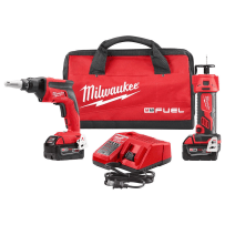 MILWAUKEE 2866-22P M18 FUEL 18V CORDLESS DRYWALL SCREW GUN AND CUT-OUT TOOL KIT