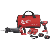 MILWAUKEE 2894-22P M18 FUEL LI-LON BRUSHLESS RECIPROCATING SAW/IMPACT CORDLESS TOOL COMBO KIT