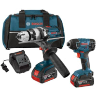 BOSCH CLPK222-181 18V LI-ON 2 PC HD / IMPACT 4.0AH