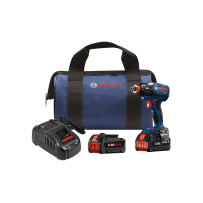 BOSCH IDH182-B24 18V EC BRUSHLESS 1/4 INCH AND 1/2  INCH SOCKET-READY IMPACT DRIVER KIT WITH 2 CORE18V 6.3 AH BATTERIES