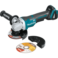 "MAKITA XAG11Z 18V LXT® Lithium?Ion Brushless Cordless 4?1/2"" / 5"" Paddle Switch Cut?Off/Angle Grinder, with Electric Brake, Tool Only"