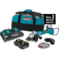 "MAKITA XAG12PT1 18V X2 LXT® Lithium?Ion (36V) Brushless Cordless 7"" Paddle Switch Cut?Off/Angle Grinder Kit, with Electric Brake (5.0Ah)"