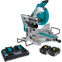 "MAKITA XSL06PT 18V X2 LXT® Lithium?Ion (36V) Brushless Cordless 10"" Dual?Bevel Sliding Compound Miter Saw with Laser Kit (5.0Ah)"