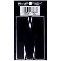 HILLMAN 839584 3 IN. DIE CUT VINYL BLACK MATTE - THIN - M