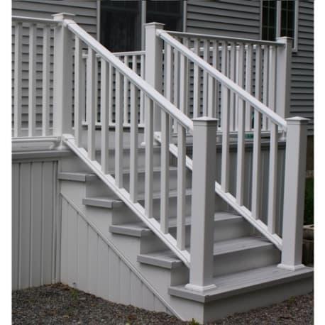 CertainTeed Kingston 8' Vinyl Stair Railing White W/Square ...