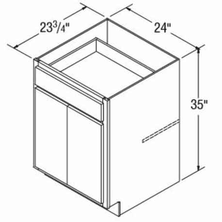 Aristokraft 5jw B24 24 Base Cabinet Brellin Pure White Hartville Hardware Lumber