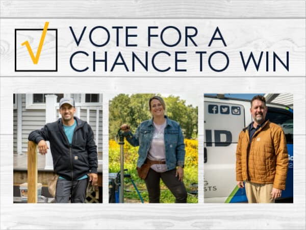 Vote for a Chance to Win: pictured Kerry Sommers, Shannon Allen, & Eric Stalter
