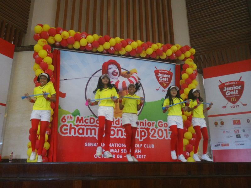 6th McDonald's Junior Golf Championship 2017 Digelar di Senayan National Golf Club 5 – 8 Oktober 2017