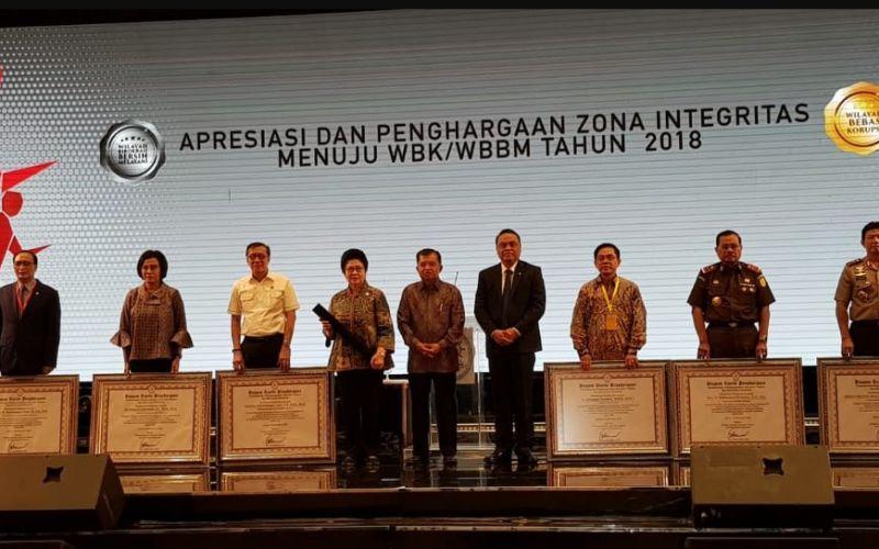 MA Dianugerahi Penghargaan Zona Integritas Menuju Wilayah Bebas Korupsi