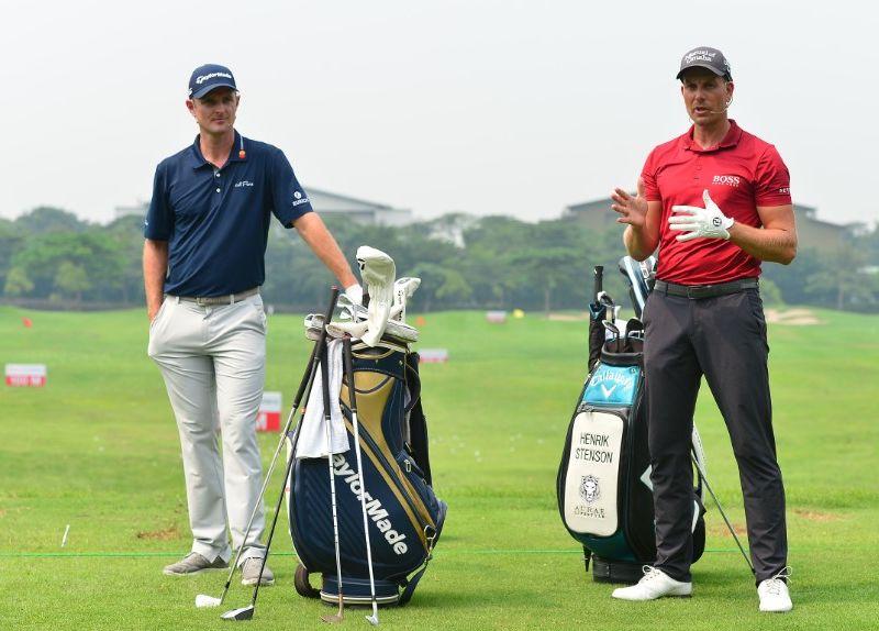 Justin Rose, Henrik Stenson Berbagi Teknik Bermain bersama Pemain Junior Jelang Indonesian Masters