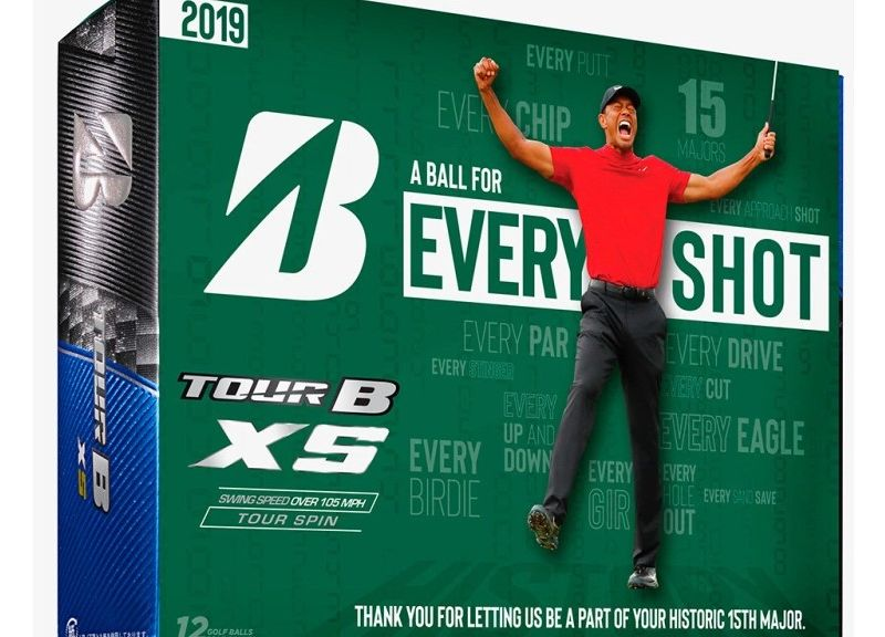 Bridgestone Rilis Bola Edisi Kemenangan Tiger Woods di Masters