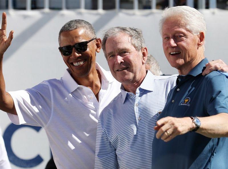 Barack Obama, George W. Bush, Bill Clinton Hadir di Presidents Cup 2017