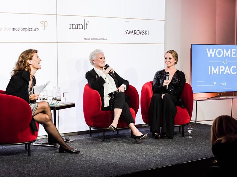 Swarovski Celebrates 'Women of Impact' in Discussion with Glenn Close during Zurich Film Festival
