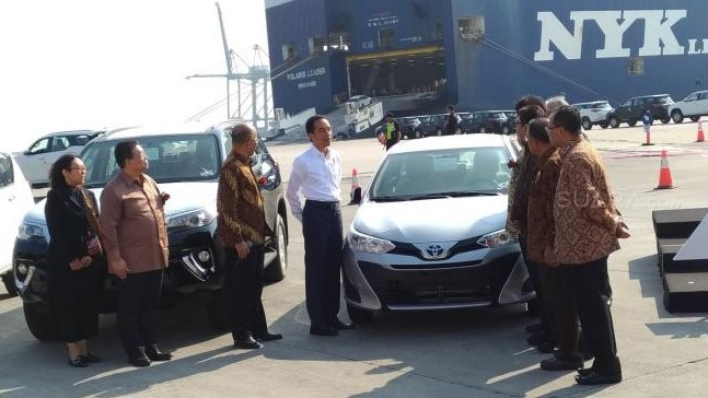 Jokowi Apresiasi Ekspor Lebih Dari 1 Juta Mobil Toyota