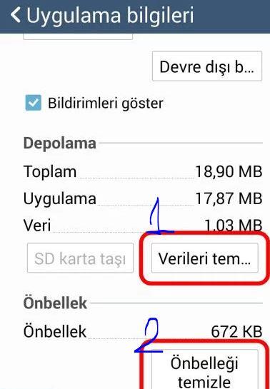 Google Play Hizmetleri Durduruldu - Önbellek temizliği