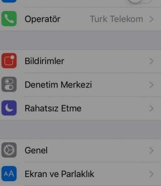 iphone ekran parlaklığıayarlama -1