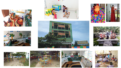 Fasilitas yang dimiliki Paud Hati Bunda. Mulai dari kolam renang, area bermain indoor, area bermain outdoor, sentra kreatifitas dan lain-lain.