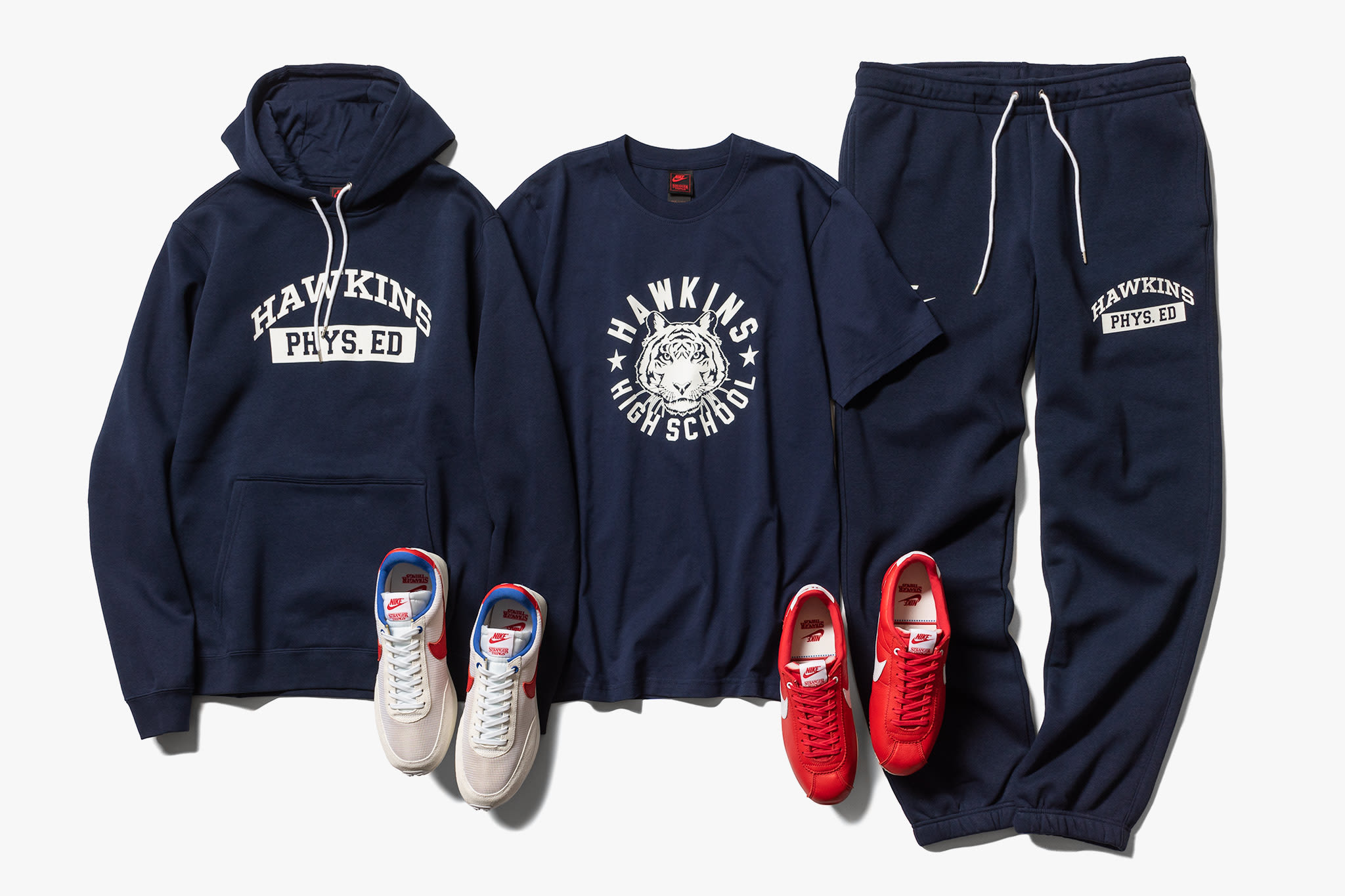 stranger things x nike sweatshirt