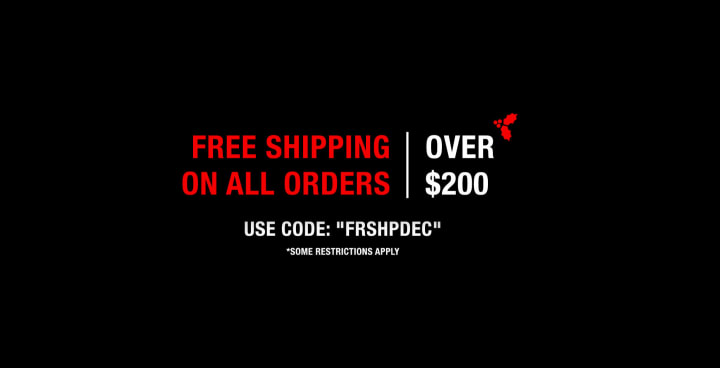 Free Shipping on All orders over $200. Use Code FRSHPDEC