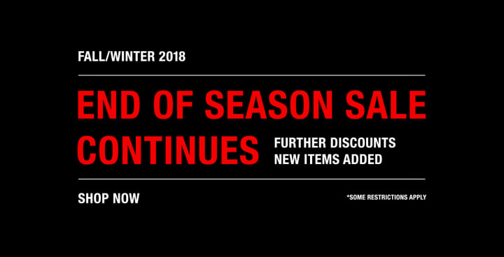 End Of Season Sale FW18