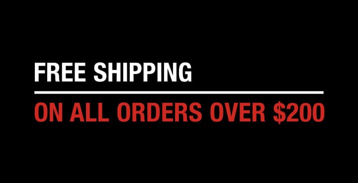 Free Shipping on all orders over $200 February 2019. Code FEBFRSHP