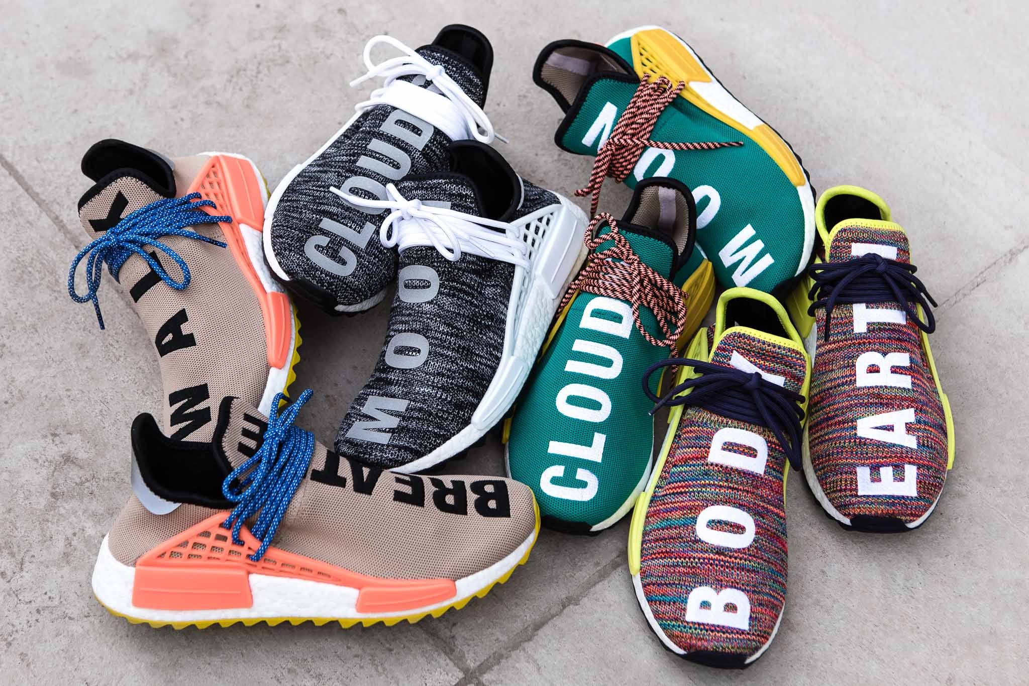 quality design 6a013 8d786 adidas Originals x Pharrell Williams Human Race NMD TR Pack