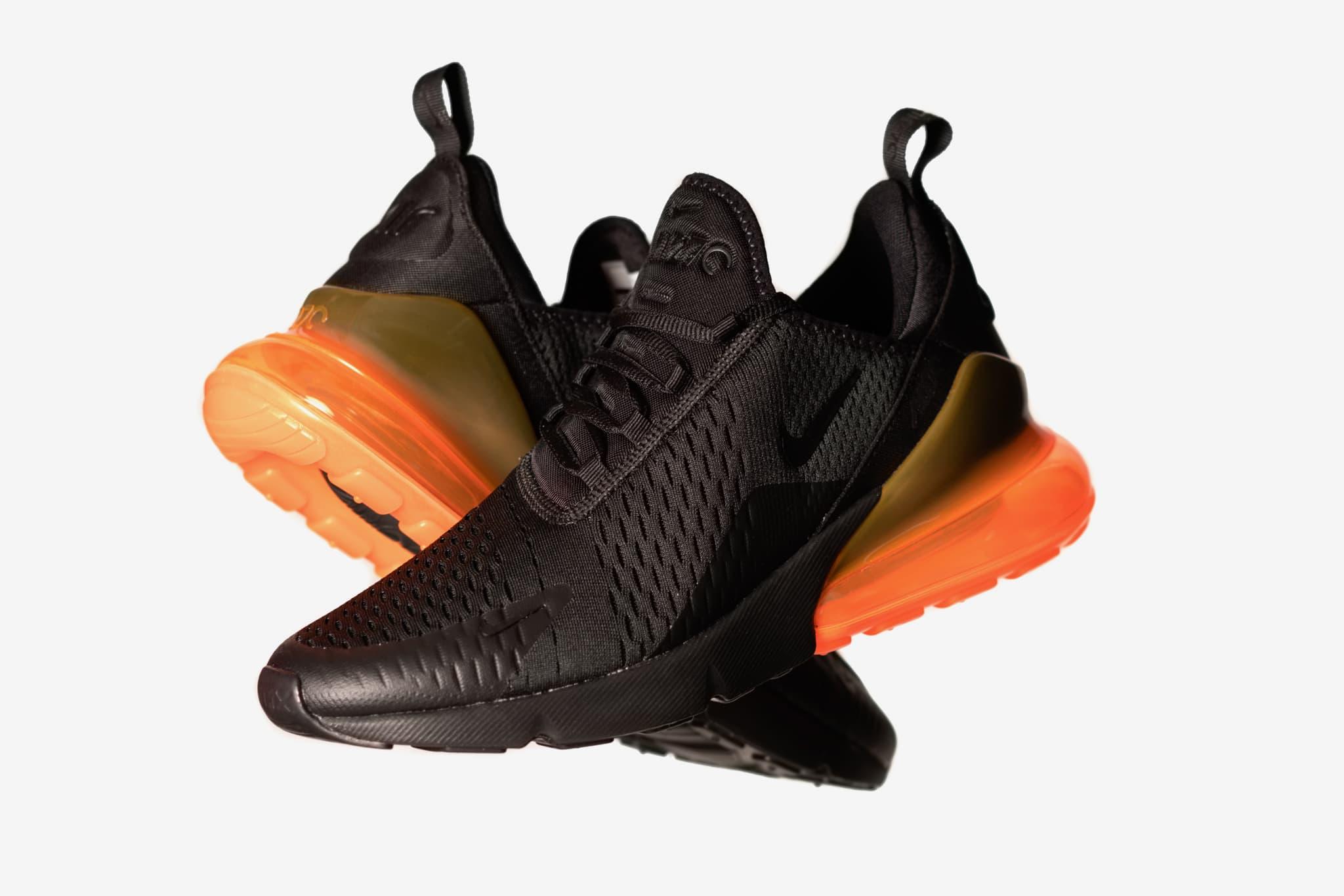 wholesale dealer 764a6 a7b7f ... 93 light stone maple-loden rochcl erabl-loden 306551 121 sz  Nike Air  Max 270 Black Orange Now Available ...