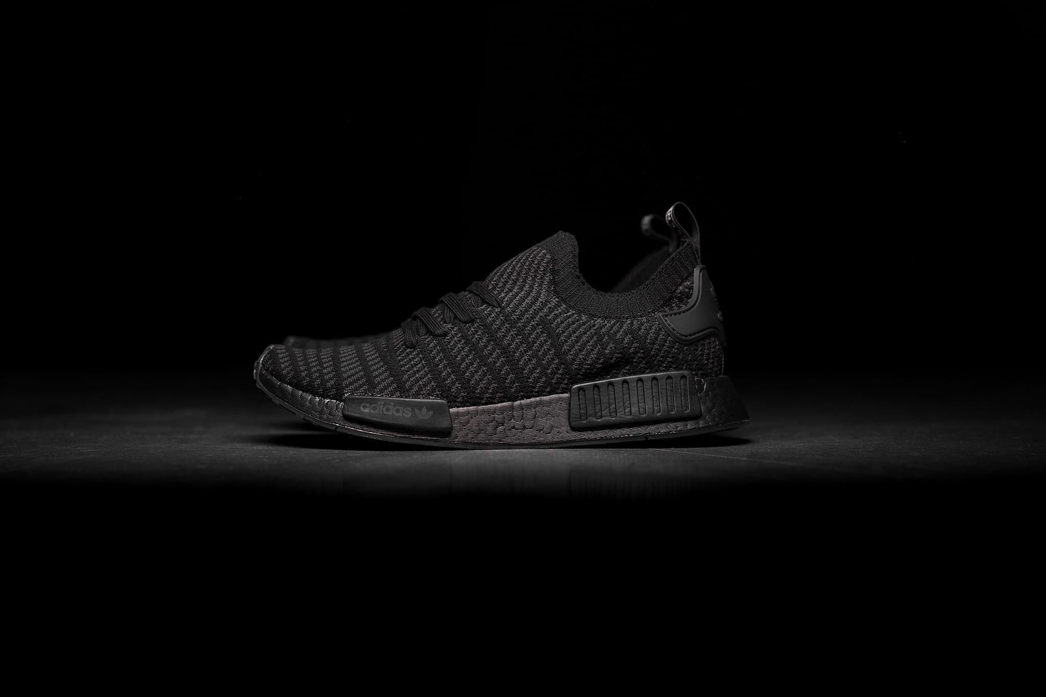 best cheap ae071 7e411 adidas nmd r1 stlt pk triple black