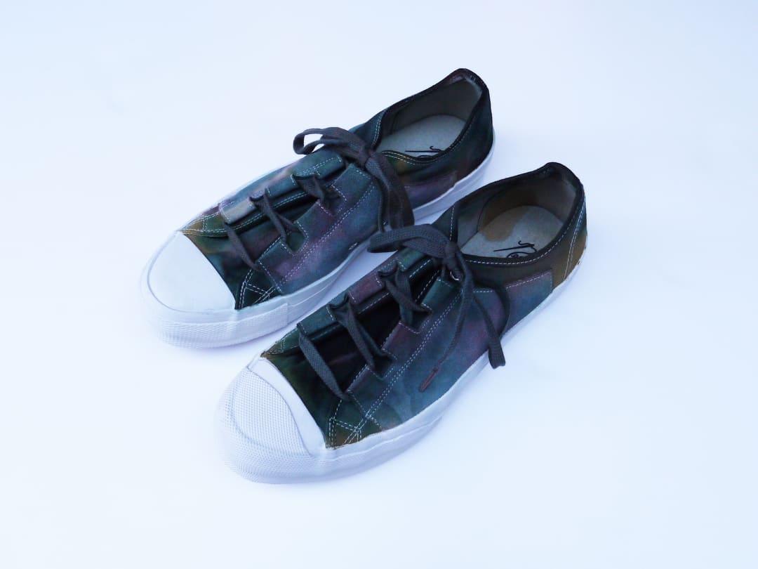 Needles Asymmetric Ghillie Sneakers Brown Green