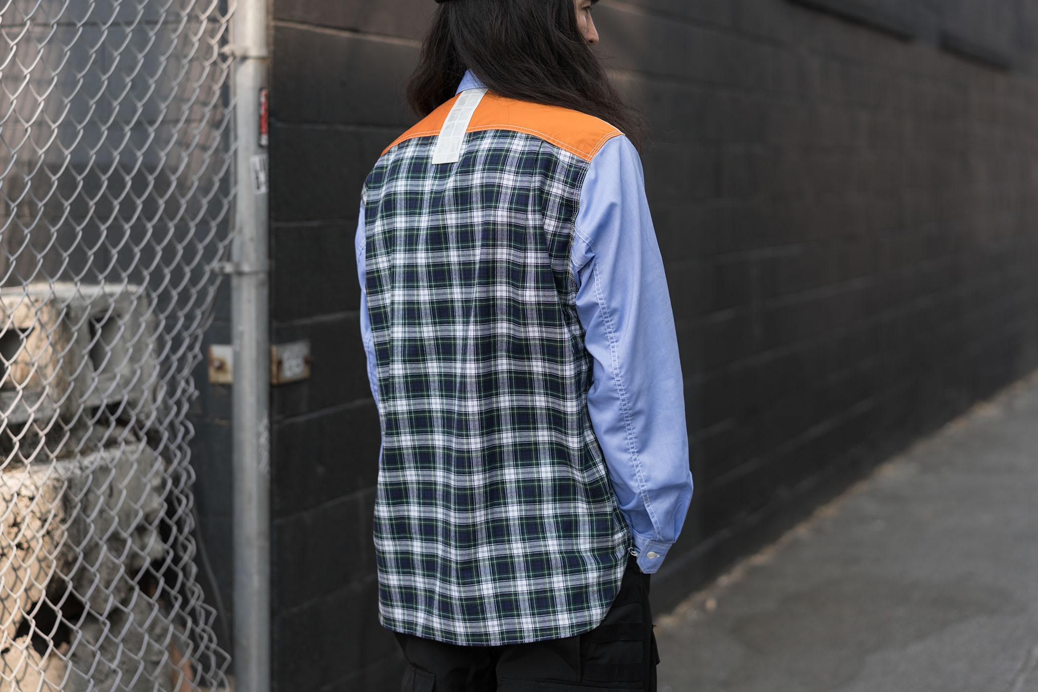 HAVEN Lookbook, Junya Watanabe MAN Cotton Oxford Check Shirt Sax/Gray