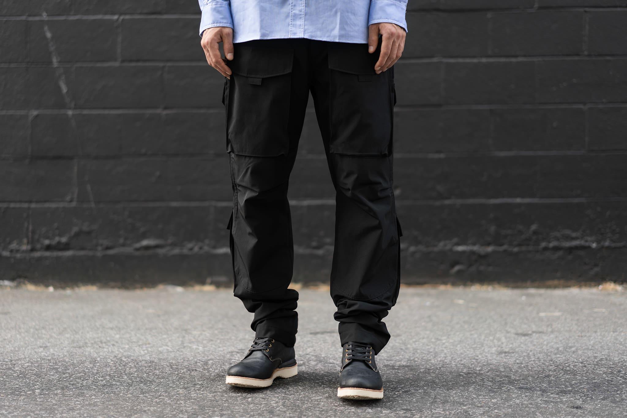 HAVEN Lookbook, Junya Watanabe MAN Poly Cotton Grosgrain Velcro Pocket Pant Black