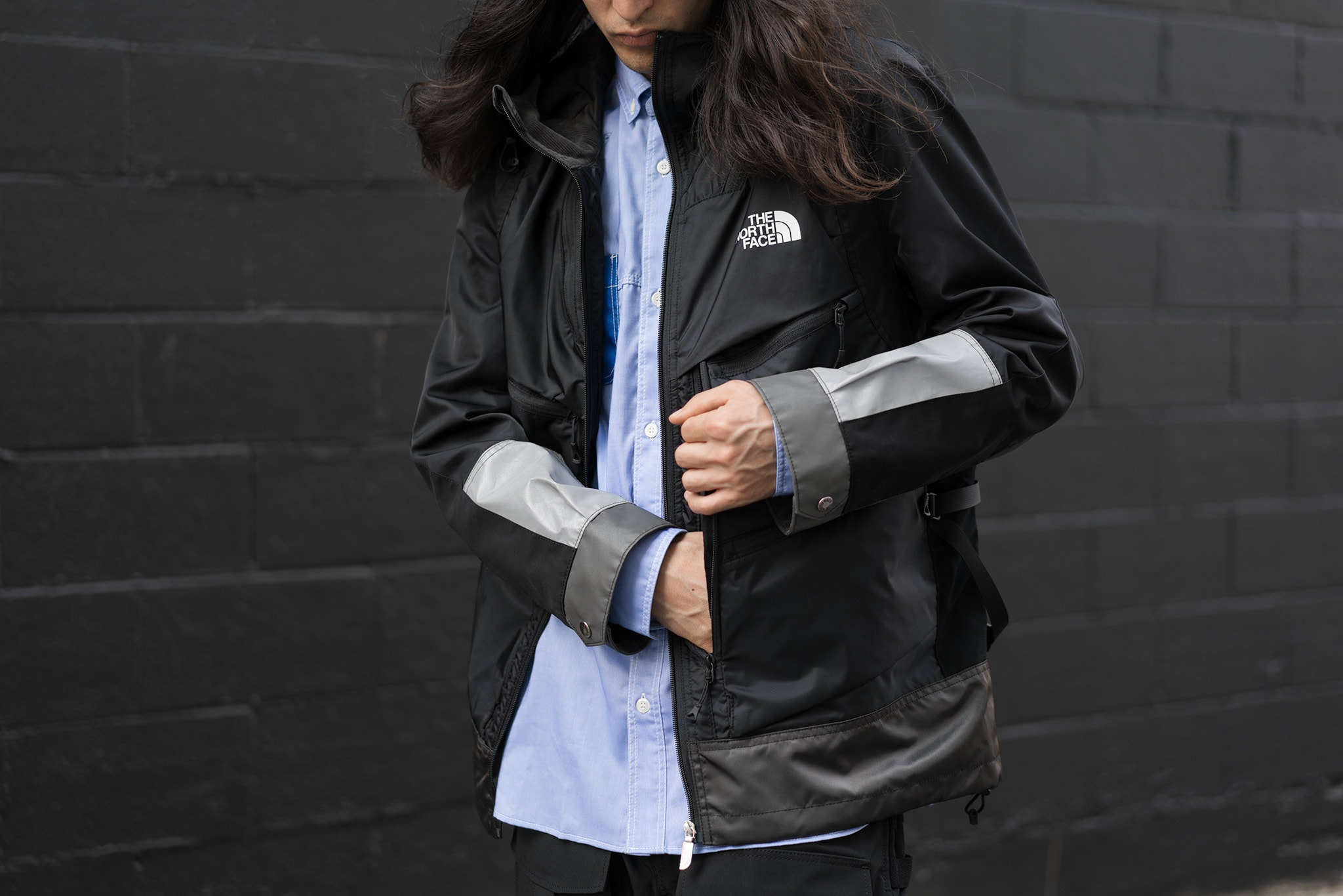 HAVEN Lookbook, Junya Watanabe MAN x The North Face Nylon Twill Trail Pack Jacket Black X Gray