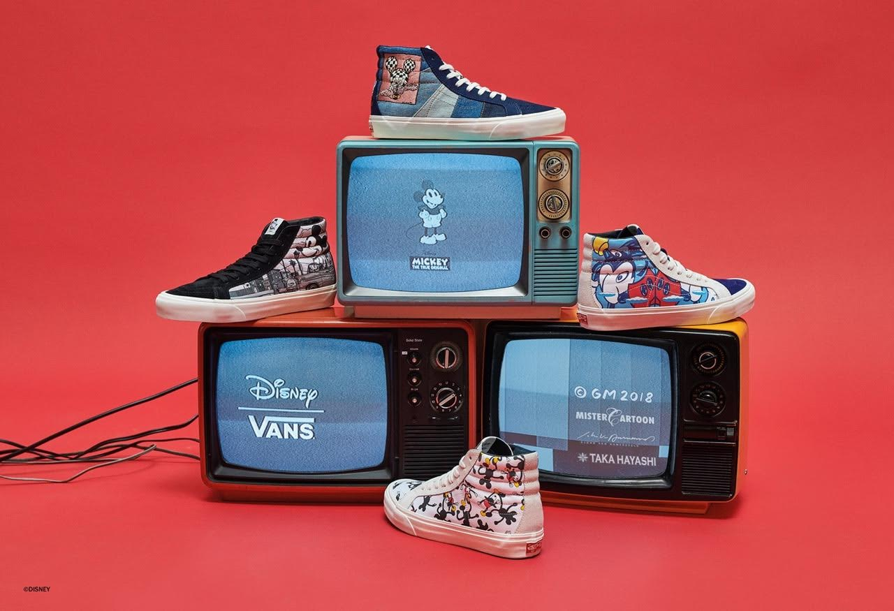 1ac1f2e4ad47c4 Vans Vault   Disney SK8-Hi full collection. Vans Vault x Disney Geoff  McFetridge