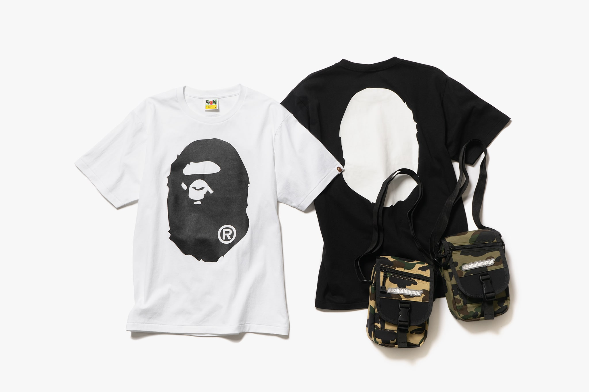 382851b3 ... Bathing Ape's FW18 collection features a wide range of t-shirts with  both screen printed and embroidered designs. Also included is the classic 1st  Camo ...