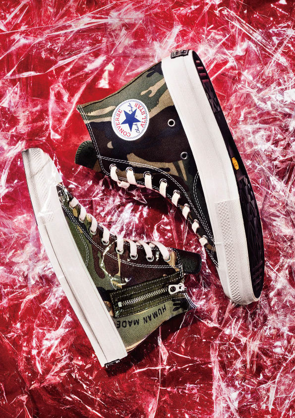 51a17fd9542f Converse Japan s premium Addict line has recently teamed up with NIGO and  his Human Made label for a pair of custom Chuck Taylor Hi s.