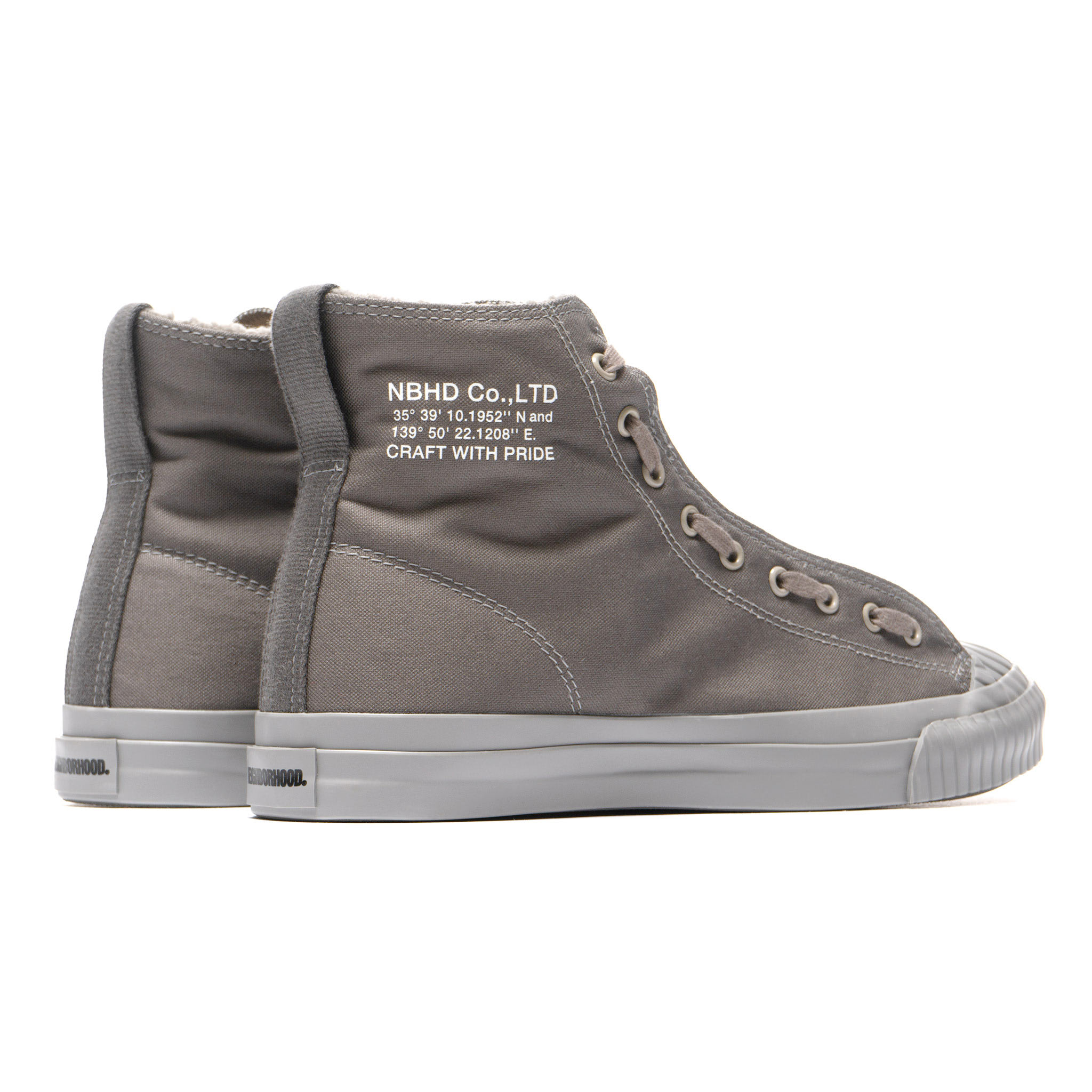 b1d96071 NEIGHBORHOOD releases a unique high-top sneaker this season, teeming with  military-inspired design. With a nod to the classic basketball silhouette,  ...