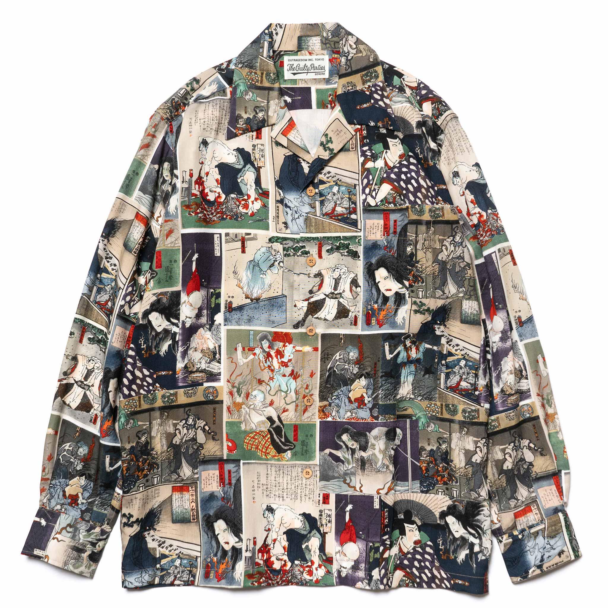 3e802a3c WACKO MARIA's Hawaiian Shirt with Guro Japanese Prints | HAVEN